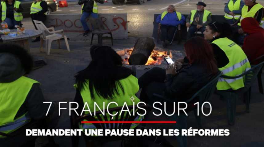 """Illustration pour la vidéo """"Inéquitables"""" et """"inefficaces"""" : les Français veulent une pause dans les réformes"""