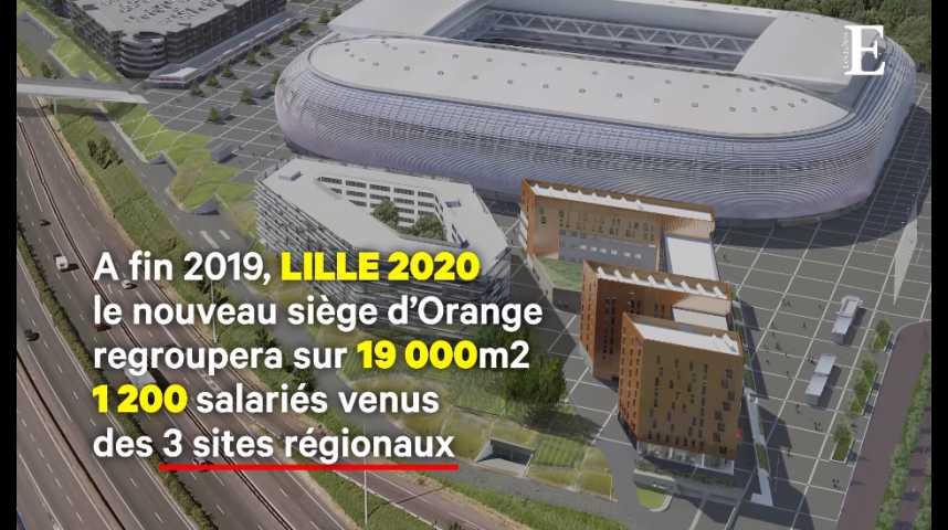 Illustration pour la vidéo Orange : un nouveau bâtiment à Lille inaugurera de nouveaux espaces de travail
