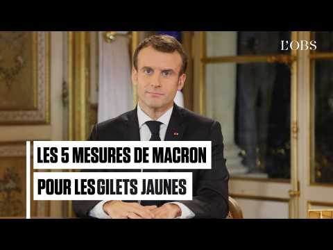 """CSG, Smic, prime de fin d'année... : les 5 annonces de Macron pour les """"gilets jaunes"""""""