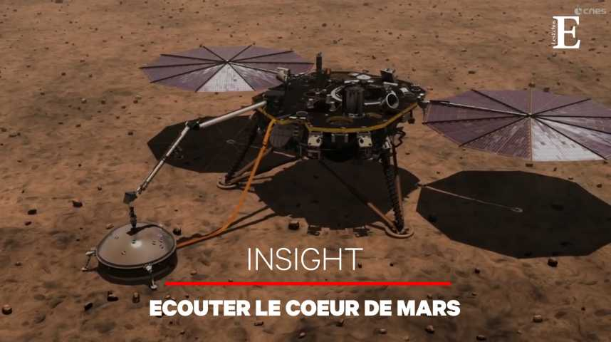Illustration pour la vidéo La sonde InSight arrive sur Mars