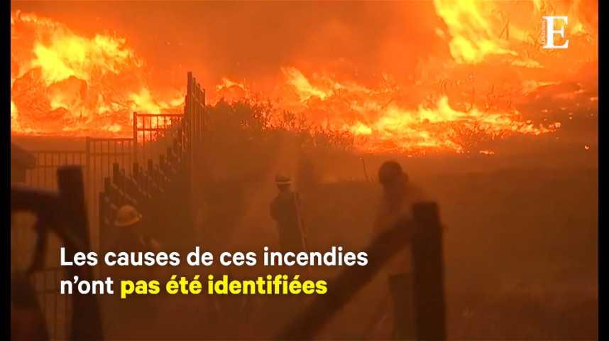 Illustration pour la vidéo La Californie ravagée par des incendies