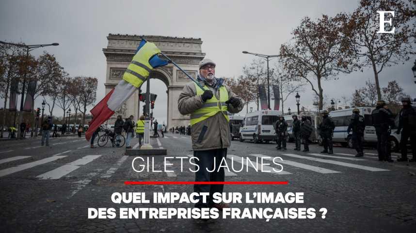 """Illustration pour la vidéo Un effet """"gilets jaunes"""" sur l'indice d'image des entreprises françaises, en net recul"""