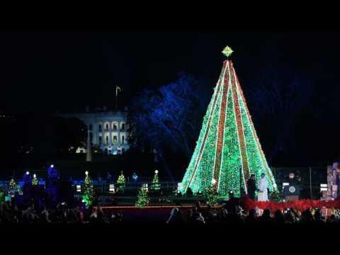 Trump attends National Tree Lighting Ceremony