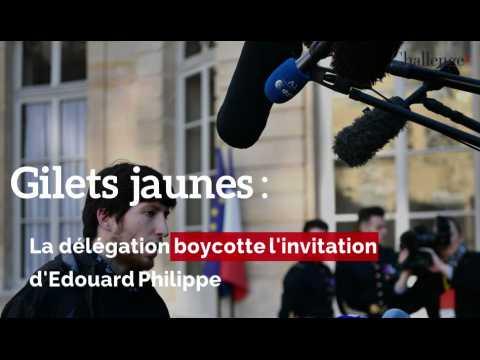 Gilets jaunes: la délégation boycotte l'invitation d'Edouard Philippe