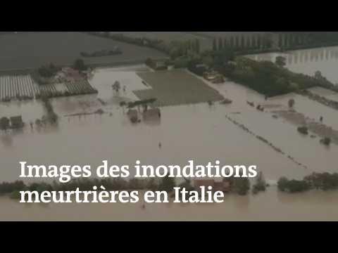 Images des inondations meurtrières en Italie