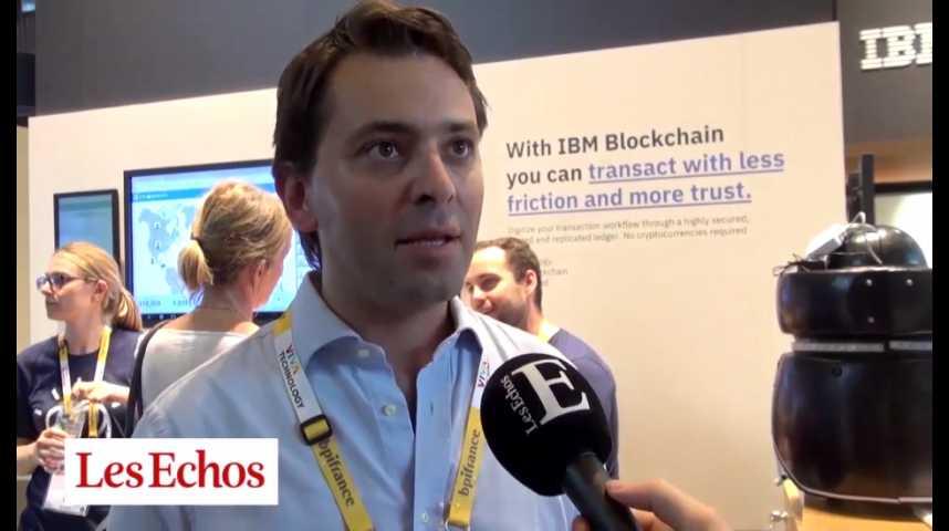 """Illustration pour la vidéo """"IBM développe une technologie blockchain pour les grandes entreprises"""" (Luca Comparini, IBM France)"""