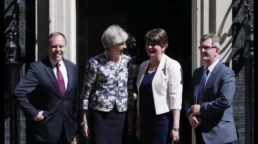 Illustration pour la vidéo Accord entre Theresa May et les unionistes nord-irlandais