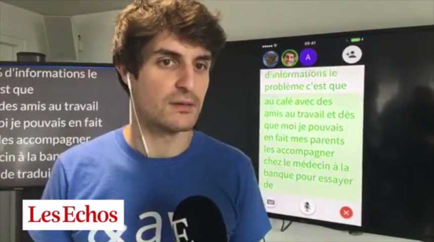 Illustration pour la vidéo Ava : l'application qui permet aux sourds de converser arrive en France