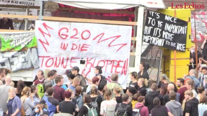Illustration pour la vidéo G20 contre anti-G20 : Hambourg en état de siège