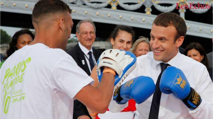Illustration pour la vidéo JO à Paris: Macron sort le grand jeu