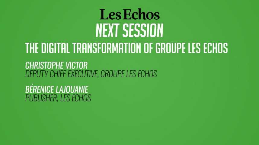 Illustration pour la vidéo La transformation digitale des Echos