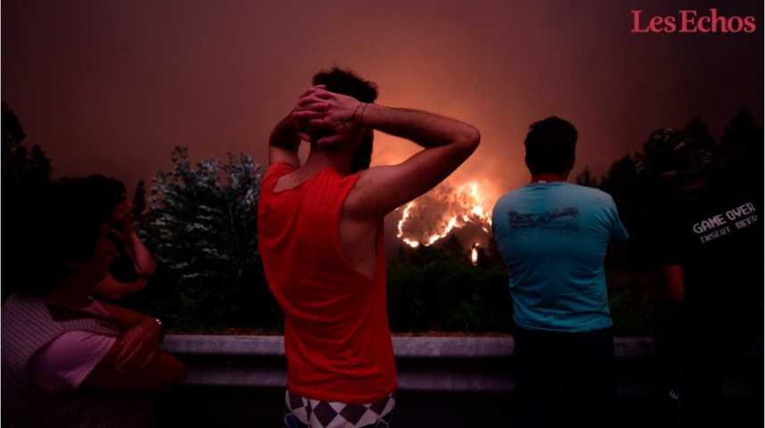 Illustration pour la vidéo Le Portugal toujours en proie à de violents incendies