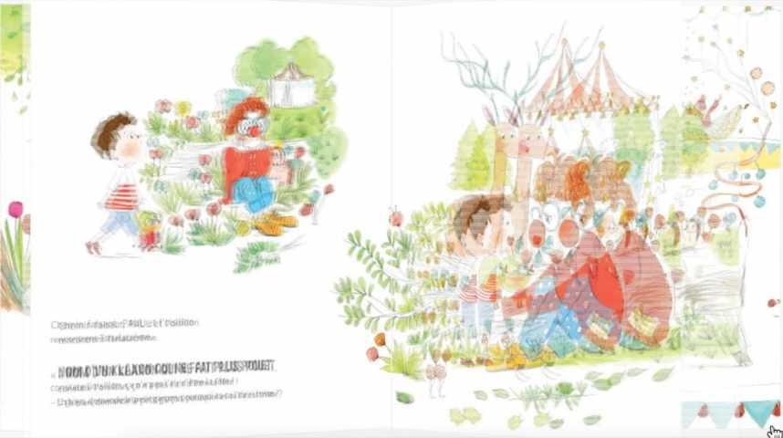 Illustration pour la vidéo Dans ma carriole, éditeur de livres pour enfants sur mesure