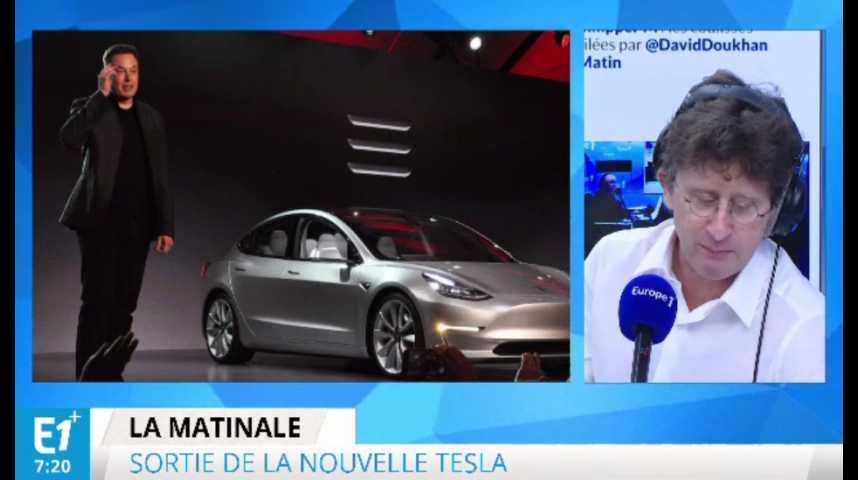 Illustration pour la vidéo Automobile: Tesla sort un modèle pour le marché de masse