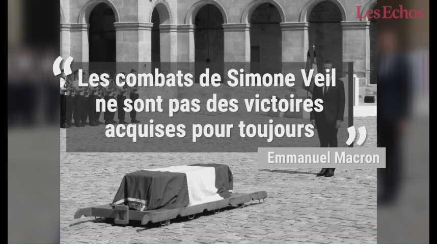 Illustration pour la vidéo Simone Veil reposera au Panthéon, a annoncé Emmanuel Macron