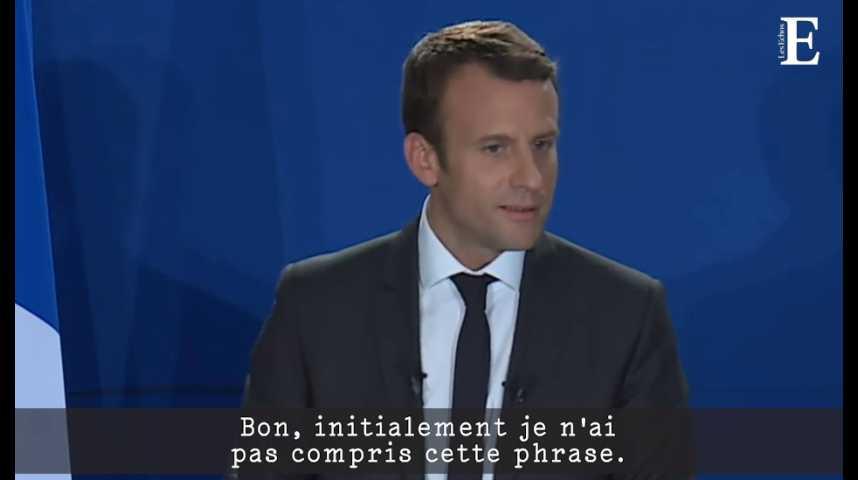 Illustration pour la vidéo Emmanuel Macron, dans le verbe et (en même temps) dans le geste