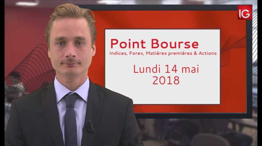 Illustration pour la vidéo Point Bourse IG du 14.05.2018