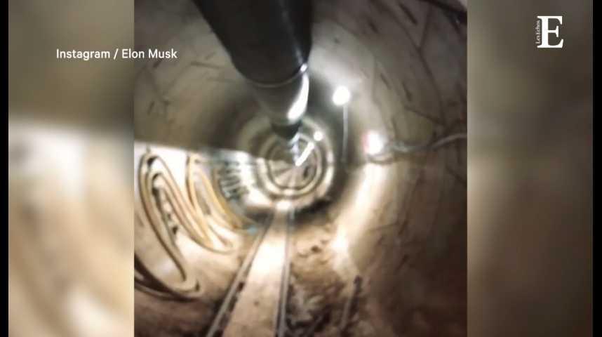 Illustration pour la vidéo Elon Musk dévoile les premières images de son tunnel sous Los Angeles