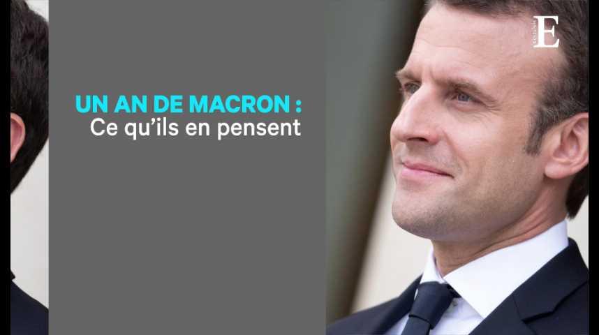 """Illustration pour la vidéo Un an de Macron : ce que les """"Invités des Echos"""" en disent"""
