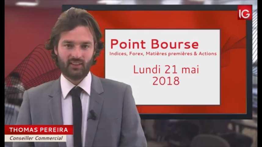 Illustration pour la vidéo Point Bourse du lundi 21 mai 2018