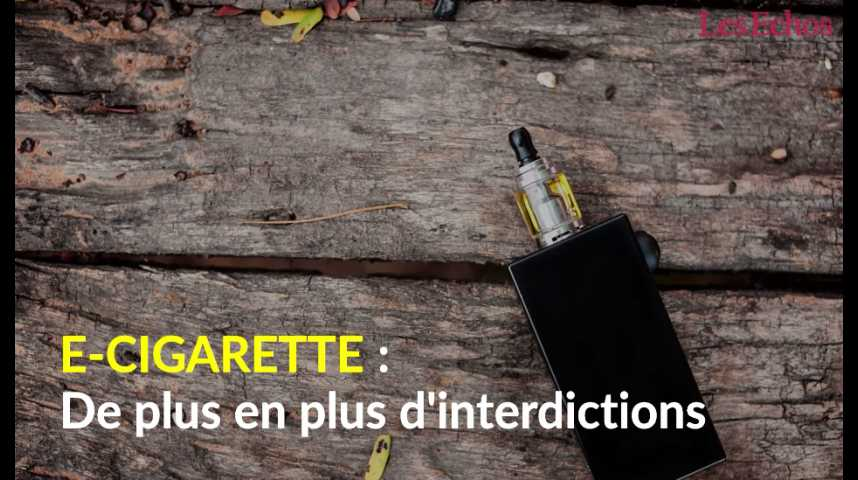 Illustration pour la vidéo E-cigarette : de plus en plus d'interdictions