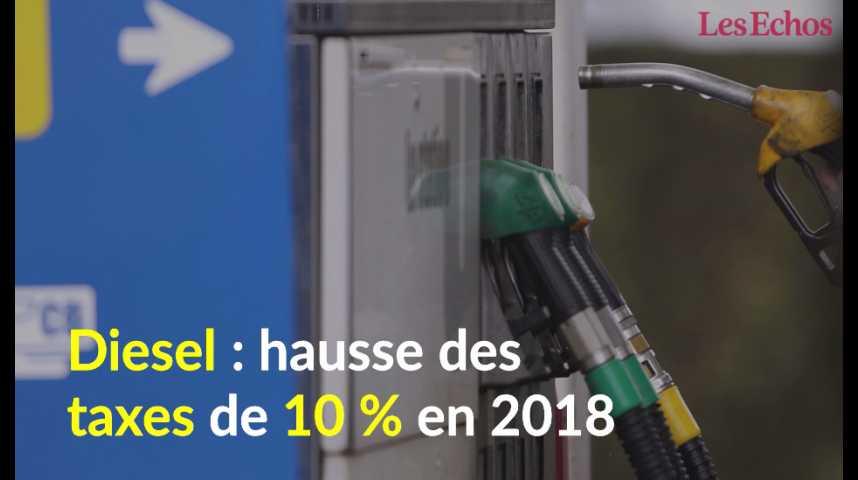Illustration pour la vidéo Diesel : hausse des taxes de 10 % en 2018