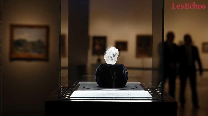 Illustration pour la vidéo Le plus gros diamant brut du monde vendu pour 53 millions de dollars