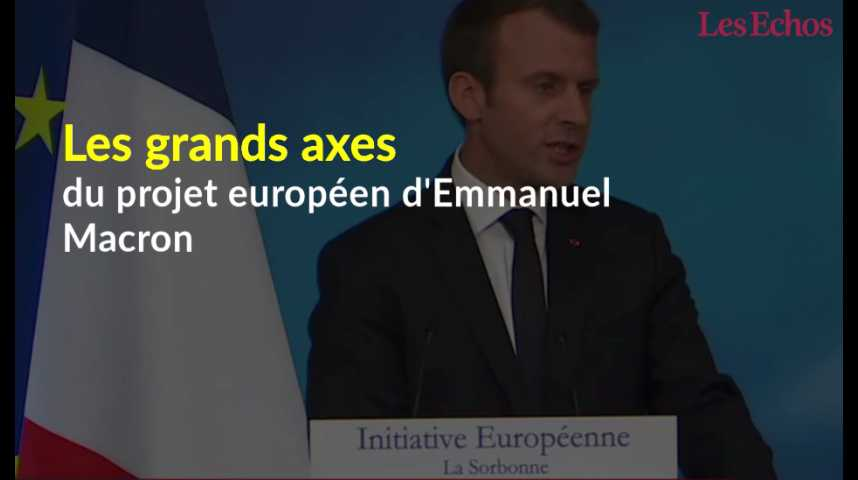 Illustration pour la vidéo Les grands axes du projet européen d'Emmanuel Macron