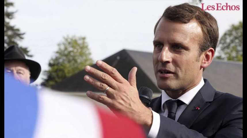 Illustration pour la vidéo La polémique enfle après les propos d'Emmanuel Macron sur les salariés de GM&S