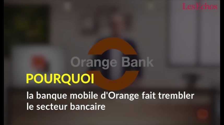 Illustration pour la vidéo Pourquoi la banque mobile d'Orange fait trembler le secteur bancaire