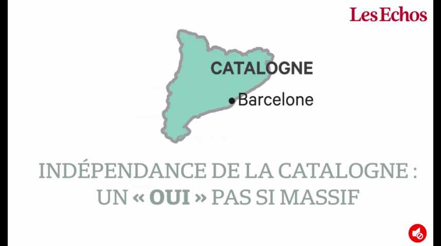 """Illustration pour la vidéo Indépendance de la Catalogne : un """"oui"""" pas si massif"""