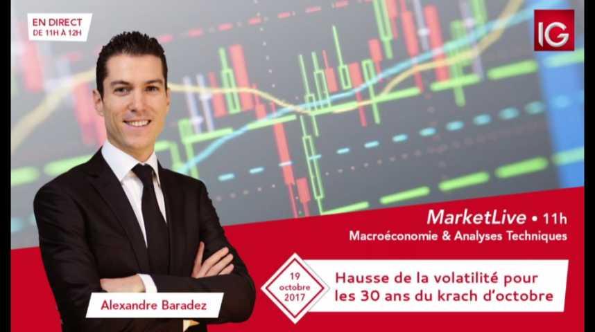 Illustration pour la vidéo #MarketLive 11h - Jeudi 19 octobre 2017