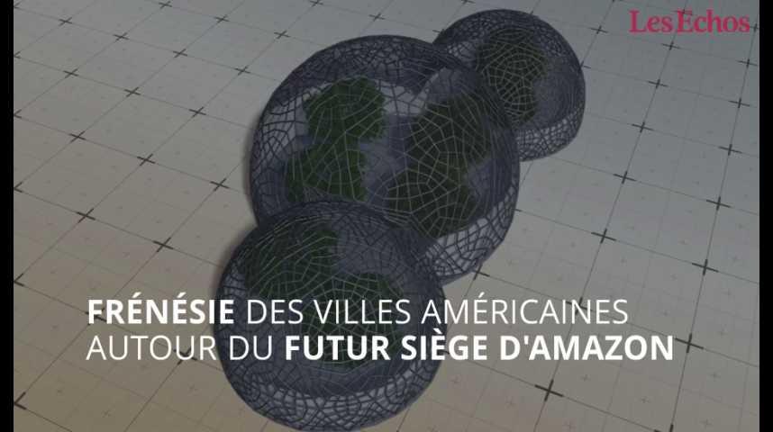 Illustration pour la vidéo Frénésie des villes américaines autour du nouveau siège d'Amazon