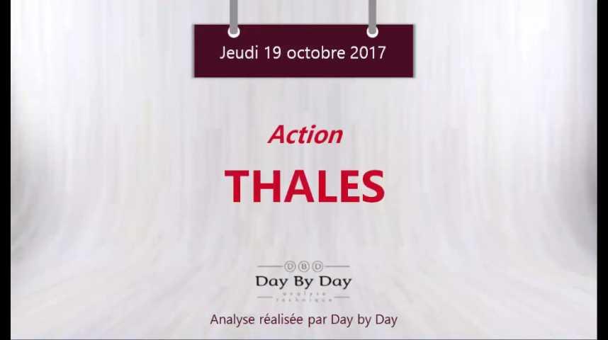 Illustration pour la vidéo Action Thalès : repli sous la résistance majeure - Flash analyse IG 19.10.2017