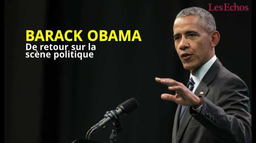 Illustration pour la vidéo Barack Obama de retour sur la scène politique