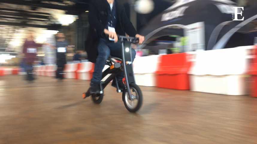 Illustration pour la vidéo Stigo, quand le scooter s'emporte partout