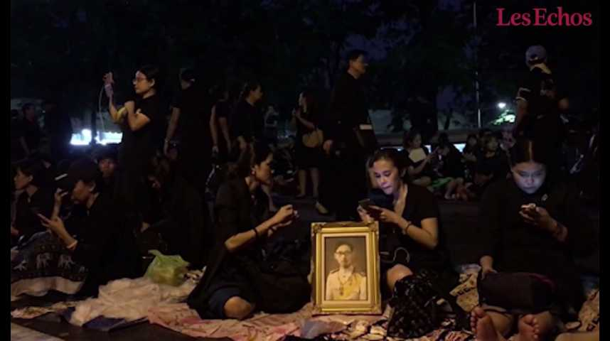 Illustration pour la vidéo Thaïlande : funérailles royales pour Rama IX