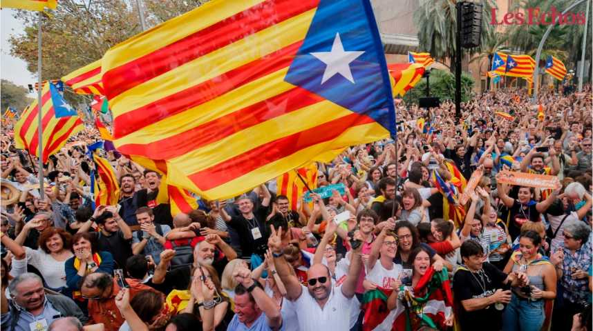 Illustration pour la vidéo Espagne : le Parlement catalan déclare l'indépendance