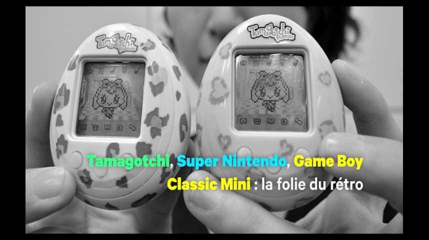 Illustration pour la vidéo Tamagotchi, Super Nintendo, Game Boy Classic Mini : la folie du rétro
