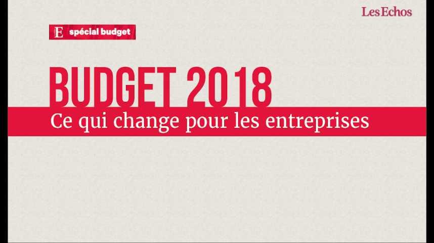 Illustration pour la vidéo Budget 2018: ce qui change pour les entreprises