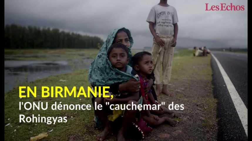 """Illustration pour la vidéo En Birmanie, l'ONU dénonce le """"cauchemar"""" des Rohingyas"""