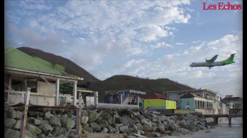 Illustration pour la vidéo St Martin: plan de relance du tourisme espéré pour l'hiver 2018