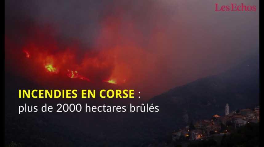 Illustration pour la vidéo Incendies en Corse : plus de 2000 hectares brûlés