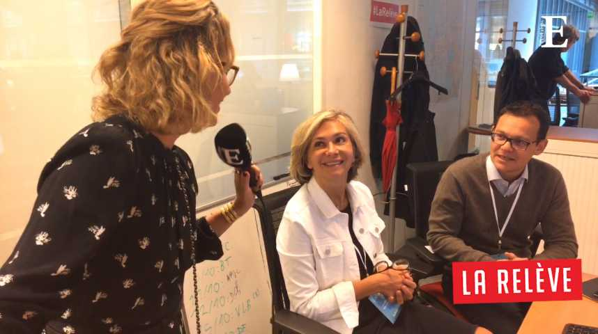 Illustration pour la vidéo La Relève: Caroline Roux rencontre Valérie Pécresse et Stéphane Israël