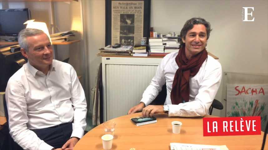 Illustration pour la vidéo La Relève: Caroline Roux rencontre Bruno Le Maire et Laurent Solly