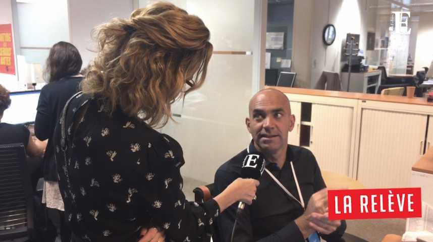 Illustration pour la vidéo La Relève: Caroline Roux rencontre Loïc Le Meur (fondateur de Leade.rs)