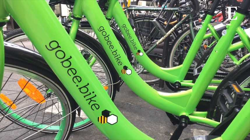 Illustration pour la vidéo Gobee.bike vient bousculer Velib' à Paris