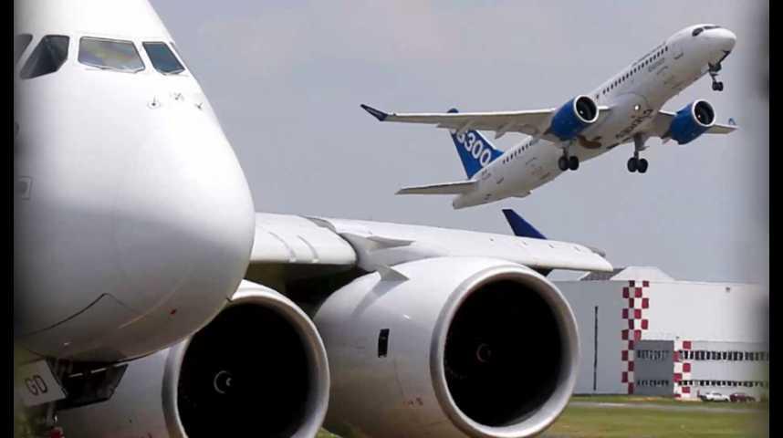 Illustration pour la vidéo Airbus prend les commandes du Cseries de Bombardier