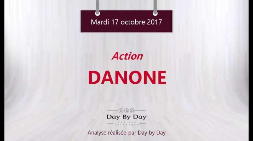 Illustration pour la vidéo Action Danone - nouveau plus haut historique - Flash analyse IG 17.10.2017