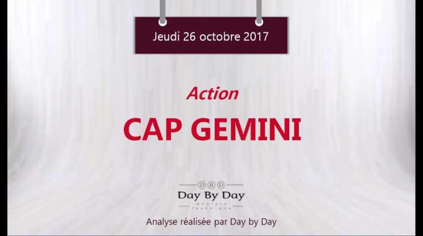 Illustration pour la vidéo Action Cap Gemini : sortie de triangle - Flash analyse IG 26.10.2017
